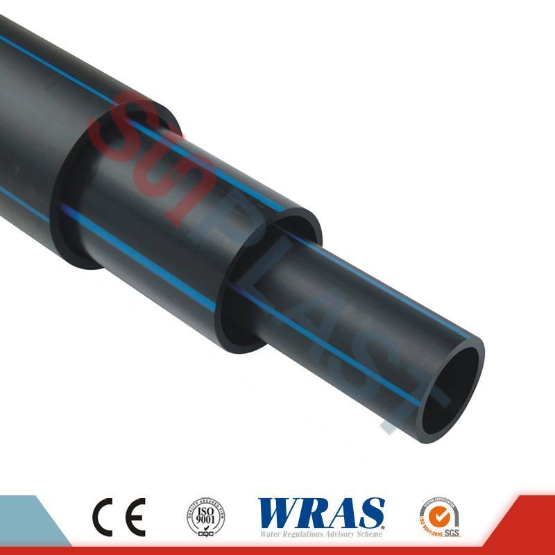 ท่อ HDPE (ท่อโพลี) สีดำ / น้ำเงินสำหรับน้ำประปา