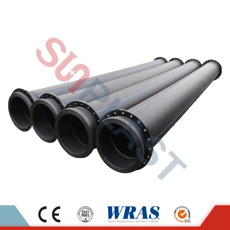 HDPE Pipe With Flanges For Dredge & Mining